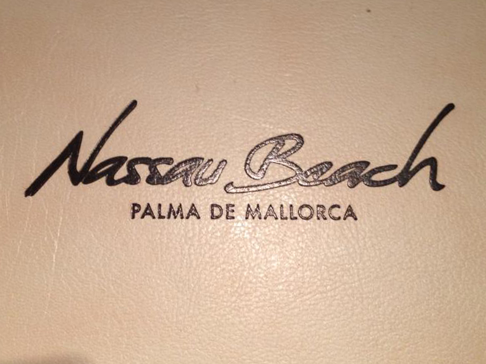 Speise Karte Nassau Beach Club Palma